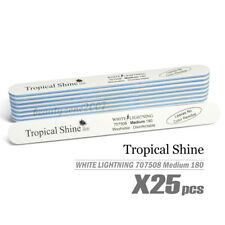 Tropical Shine White Lightning Nail File 180/180 #707508 x 25 Pcs - Medium
