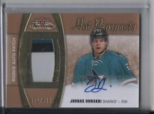 Joonas Donskoi RC Auto Patch #/499 SP Rare 2015-16 Fleer Showcase Hot Prospects
