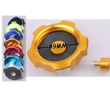 Yellow CNC FUEL CAP GAS TANK CAP FOR DIRT BIKE QUAD TAOTAO SSR COOLSTER