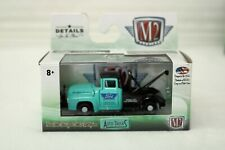 1956 Ford F-100  Tow Truck 1/64 Scale 32500 M2 Green and Black 24 hour Service
