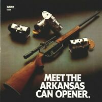 1982 Arkansas Can Opener Daisy 922 Air Rifle Gun Vintage Print Ad