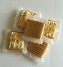 Real Gold Leaf Thread: 75 yards on a bobbin