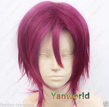HOT!Rin Matsuoka Short Dark mulberry Cosplay Wig Free shipping
