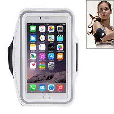 Custodia cover fascia braccio fitness BIANCO jogging per Iphone 6 plus