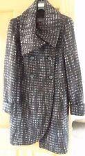 M&S Per Una  Black/Grey Check Winter Coat - Size 16 [Brand New]