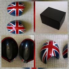 MINI ONE COOPER CONVERTIBLE ROADSTER MK 2 UNION JACK DOOR MIRROR COVERS