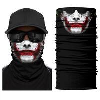Joker Neck Gaiter Bandana Seamless Balaclava Sun Guard Headband Scarf Men