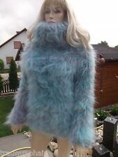 Sogno Mohair p1b Fluffy LONGHAIR Mohair Pullover Sweater Jumper cowlneck NEW XL