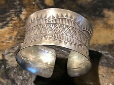 Gorgeous Handmade Ethnic Design Cuff Bracelet In 925 Sterling Silver