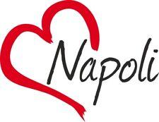 """Adesivo per auto """" NAPOLI """" (Città) cuore Sticker ca.9x12 cm taglio contorno …"""