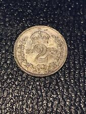 More details for 1889 queen victoria maundy 2 pence silver coin