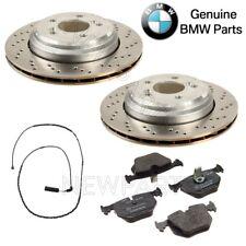 NEW BMW E46 M3 E85 E86 Z4 3.2L L6 Rear Brake Discs Pads and Sensor KIT Genuine