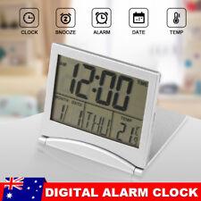 Protable Digital LCD Screen Travel Alarm Clock Thermometer Timer Calendar Clock