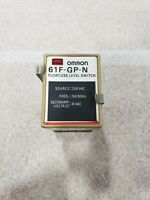 Omron 61F-GP-N Floatless Level Switch With Omron PF113A Socket Base #08E1PR6