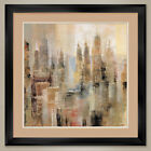 """35W""""x35H"""": SKYRISES by MICHAEL LONGO - CITY - DOUBLE MATTE, GLASS and FRAME"""