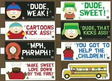 "South Park Bumper Stickers 1998 Free Us Postage Set of 8 - with Cartman & Bus!""!"