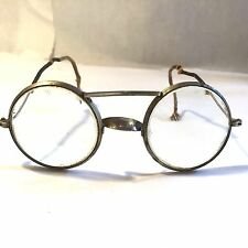 Vtg Wilson Wire Rim Motorcycle Safety Goggles Glasses Harley USA Made Steampunk
