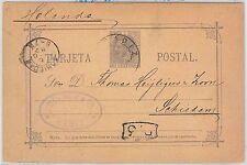 España - HISTORIA POSTAL:  ENTERO POSTAL de CADIZ a OLANDA Netherlands 1887