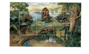 Tanzania 1999 Dinosaurs - Sheet of 6 - MNH