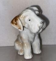 Vtg 1930-40's Bisque Jorky Fox Jack Russell Terrier Dog Figurine Miniature