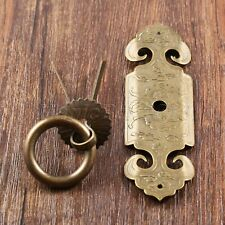 Chinese Classic Traditional Totem Drawer Door Brass Pull Handles Antique Bronze