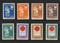 T784 Paraguay 1964 Olympiade 8v. Postfrisch
