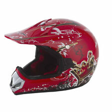 Vcan V310 Kids Youth ATV Quad Mx Motorbike Motocross Helmet Crash Red/Graffiti M