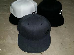 DC Shoes Baseball Cap Hat Flexfit L-XL - Small Size Logo Black or Gray or White