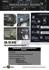Spartan Tactical UDL Airsoft Weapon Label Code Sticker crye multicam lbt eagle
