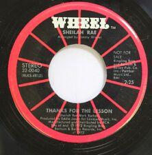 Hear! Sunshine Pop Promo 45 Sheilah Rae - Thanks For The Lesson / I'Ve Still Got