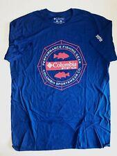 Columbia New PFG Fishing Gear Scenic Short Sleeve T-Shirt Men/'s Medium Navy