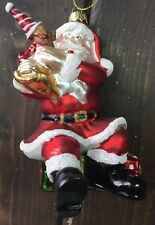 New Hand Blown Glass Christmas Tree Ornaments Santa Clause Gift Funky Dog Puppy