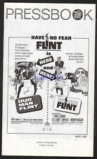 OUR MAN FLINT & IN LIKE FLINT 1966 DOUBLE FEATURE PRESSBOOK JAMES COBURN