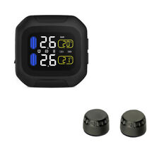 Wireless TPMS Motorcycle Tire Pressure Monitor System With 2 External Sensor