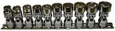 "10Pc. 3/8""Dr. 6Pt Metric Universal Sockets 10 19mm T&E Tools 93809"