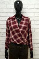 Camicia HOLLISTER Donna Taglia S Maglia Blusa Shirt Woman Manica Lunga a Quadri
