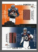 Clinton Portis Ashley Lelie 2002 Playoff Honors Rookie Tandems Ball Relic #RT-5