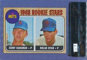 1968 Topps Nolan Ryan #177 HOF RC New York Mets Rookie BVG 6.5 CENTERED