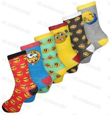 6 Pairs Children Girls Boys Emoji Socks Emotions Character Smiley Faces 4 - 6.5