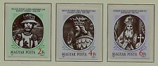 Hungary Sc 3120-22 Nh imperf issue of 1988 - Kings