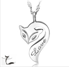 "Super Adorable ""Fox"" 925 Sterling Silver Pendant Necklace"