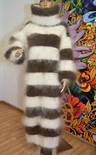 Mohair Sweater dress fuzzy turtleneck Longhair 100% Goat Down soft WARM