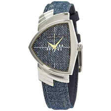 Hamilton Ventura Jeans Quartz Blue Dial Shield Shaped Watch H24411941