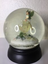 Nordstrom Snow Globe Holly Frost Enchanted Landscape Holiday 2002 Fairy And Urn
