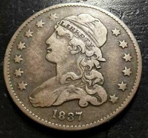 1837-P 25c Capped Bust Quarter Dollar