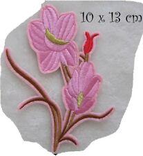 C5854 - BOUQUET FLEUR ROSE ** 10 x 13 cm ** APPLIQUE ÉCUSSON PATCH THERMOCOLLANT