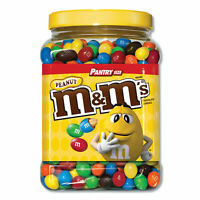 M & M's Milk Chocolate Coated Candy w/Peanut Center 62 oz Tub 1207596