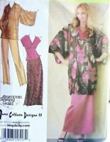 Simplicity Sewing Pattern 4291 Misses Lined Kimono Top Pants Skirt Size XXS-M