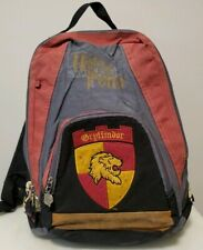 Harry Potter Gryffindor School Gray and Red Backpack with Adjustable Straps