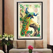 5D Peacock DIY Crystal Diamond Painting Cross Stitch Embroider Kits Home Decor
